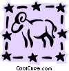 Sign of the zodiac - Aries Vector Clip Art graphic
