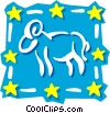 Vector Clip Art image  of a Sign of the zodiac - Aries