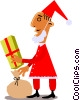 Vector Clipart image  of a Santa Claus