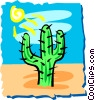 Vector Clipart graphic  of a Cactus