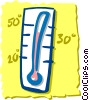 Vector Clipart image  of a Thermometer