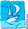 Vector Clipart graphic  of a Sailboat