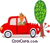 Vector Clip Art picture  of a Cars