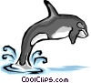 Vector Clip Art image  of a Killer whale