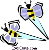 bumble bees Vector Clipart picture