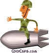 Vector Clip Art picture  of a Troops