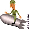 Vector Clipart image  of a Troops