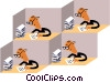 Office worker Vector Clip Art picture