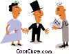 Couple getting married Vector Clipart illustration