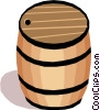 Vector Clip Art image  of a Barrel