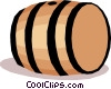 Vector Clip Art graphic  of a Barrel