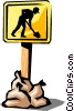 Vector Clip Art image  of a Construction signs