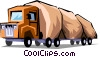 Vector Clip Art image  of a Commercial vehicles