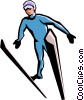 Vector Clipart graphic  of a Skier