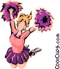 Cheerleader Vector Clipart illustration