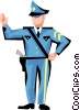 Vector Clipart graphic  of a Cop
