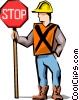 Vector Clipart illustration  of a Road crew