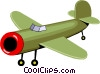 Vector Clipart graphic  of a Plane
