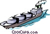 Cargo Ship Vector Clip Art graphic