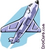 Vector Clipart image  of a Jet aircraft