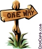 one-way Sign Vector Clip Art picture