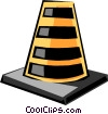 Vector Clip Art picture  of a Road markers