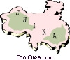 Vector Clip Art graphic  of a China map