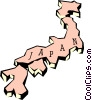 Vector Clipart illustration  of a Japan map