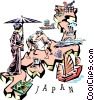 Japan map Vector Clip Art image