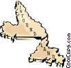 Newfoundland map Vector Clipart picture