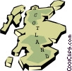 Vector Clip Art image  of a Scotland map