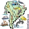 Vector Clip Art graphic  of a South America map