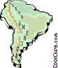 South America map Vector Clipart image