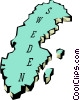 Vector Clipart picture  of a Sweden map