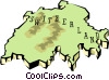 Vector Clipart illustration  of a Switzerland map