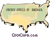 Vector Clipart graphic  of a United States map