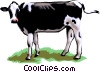 Vector Clip Art graphic  of a Dairy cow