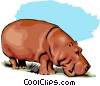 Vector Clipart picture  of a Hippopotamus