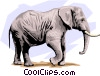 Vector Clip Art image  of a Elephants