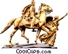 Statue Vector Clipart graphic