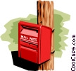 Vector Clipart picture  of a Mailbox