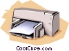 Printer Vector Clip Art picture