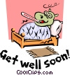 Vector Clip Art graphic  of a Get Well Soon!