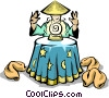 Vector Clipart graphic  of a Chinese food