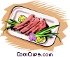 Vector Clipart illustration  of a Meals
