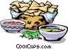 Corn chips Vector Clip Art picture