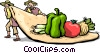 Vector Clip Art graphic  of a Tortillas