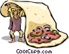 Vector Clipart graphic  of a Fajitas