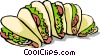 Vector Clip Art picture  of a Tacos