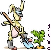 Vector Clip Art image  of a Rabbit with carrots